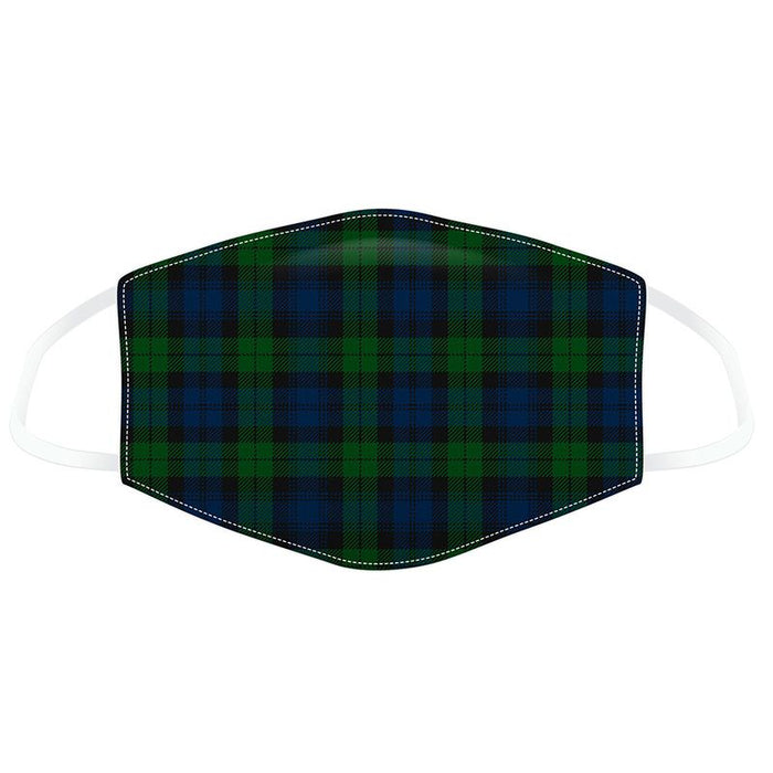 Green Tartan Reusable Face Covering - Adults