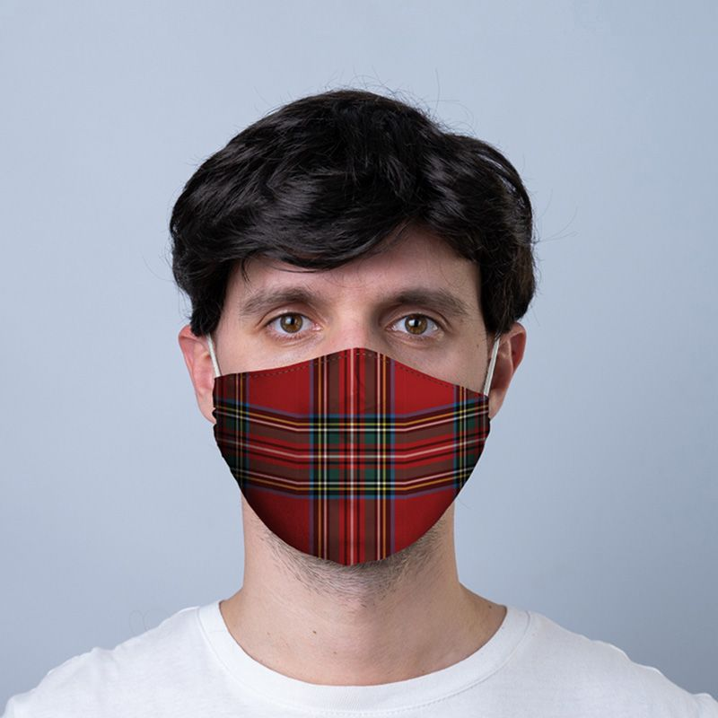 Red Tartan Reusable Face Covering - Adults
