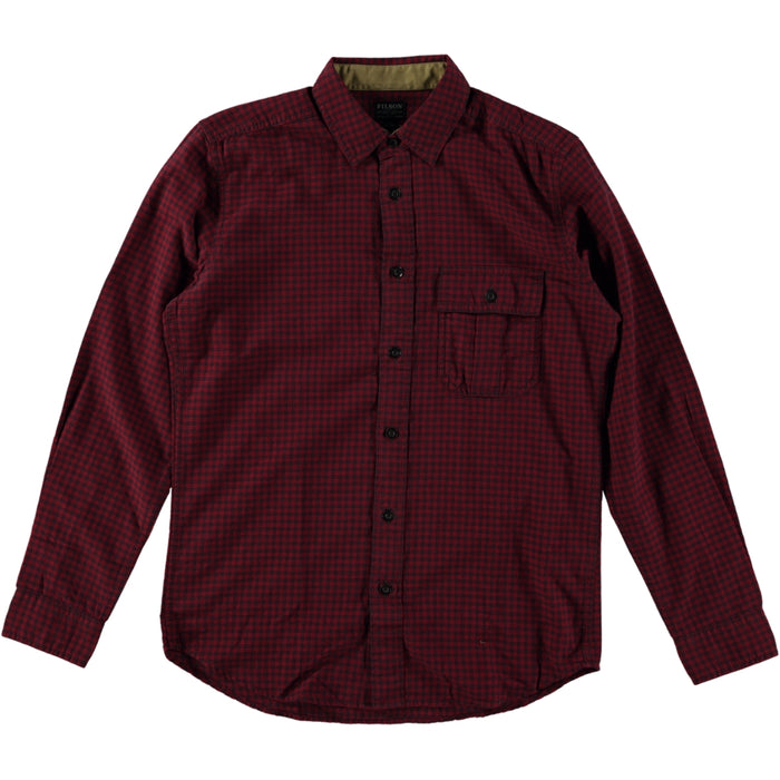Filson Rustic Oxford Shirt Red Coal