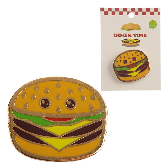 Collectable Fast Food Cheeseburger Enamel Pin Badge