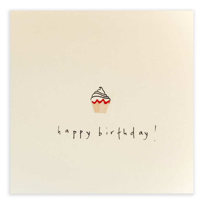 Ruth Jackson Pencil Shavings Greetings Card Cupcake