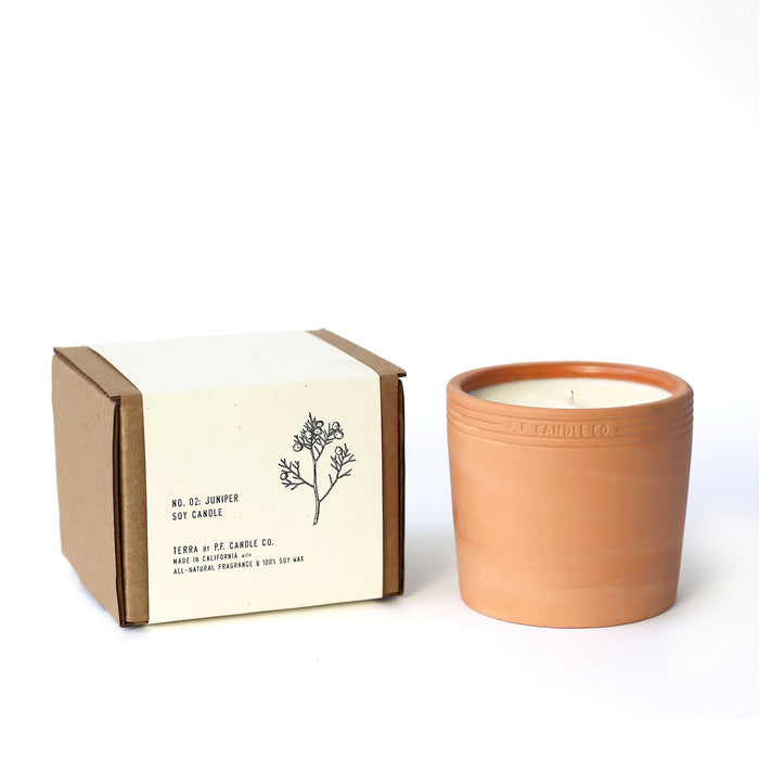 P.F. Candle Co. Large 17.5 oz Terra Soy Candle No.2 Juniper