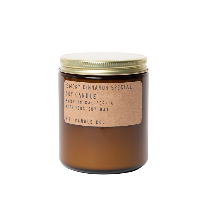P.F. Candle Co. Standard 7.2 oz Soy Jar Candle XC4 Smoky Cinnamon Special