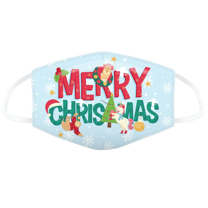 Christmas Festive Friends Merry Christmas Reusable Face Covering - Adults