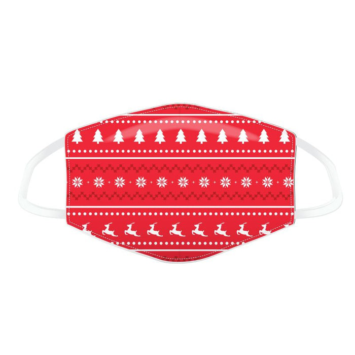 Christmas Red Christmas Jumper Pattern Reusable Face Covering - Adults