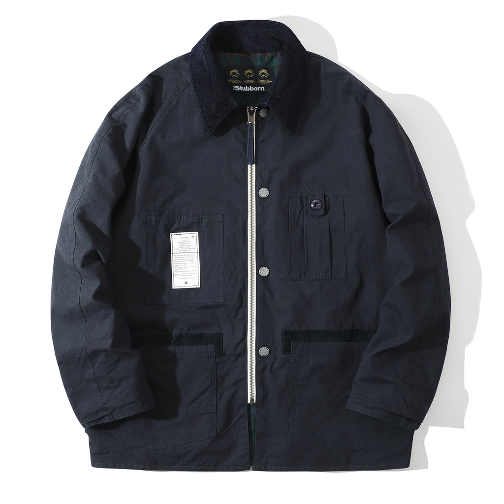 Club Stubborn Reversible Royal Hunting Coat Navy