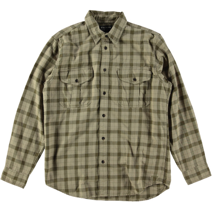 Filson Light Weight Alaskan Guide Shirt Khaki Brown
