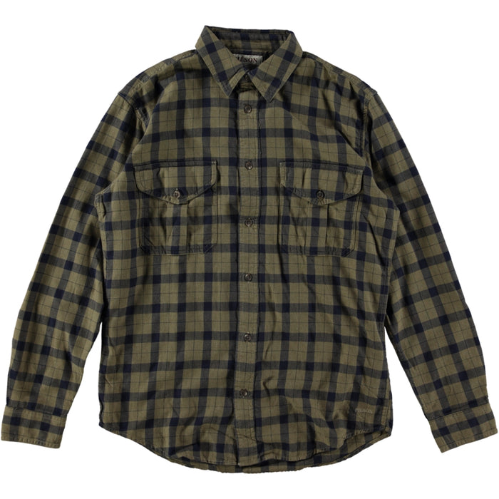 Filson Light Weight Alaskan Guide Shirt Heather Tan Navy