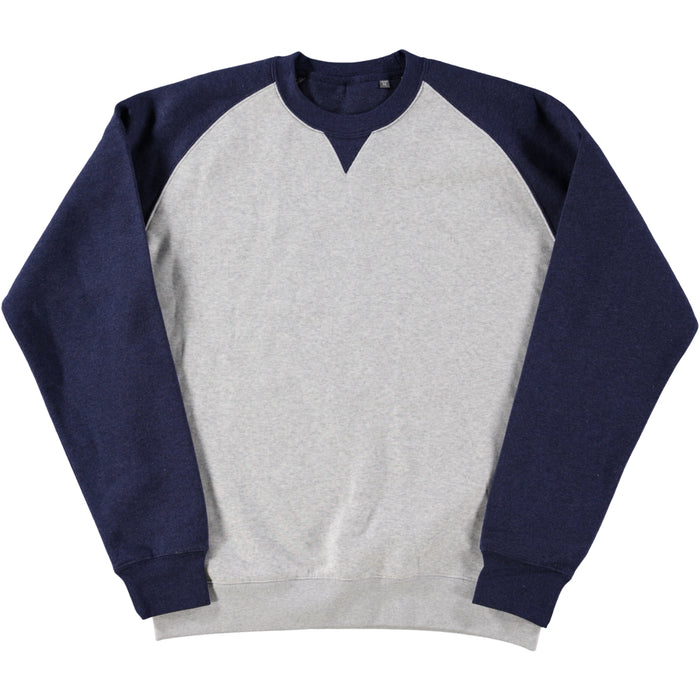 Russell Authentic Baseball Sweatshirt Oxford Grey Indigo Melange