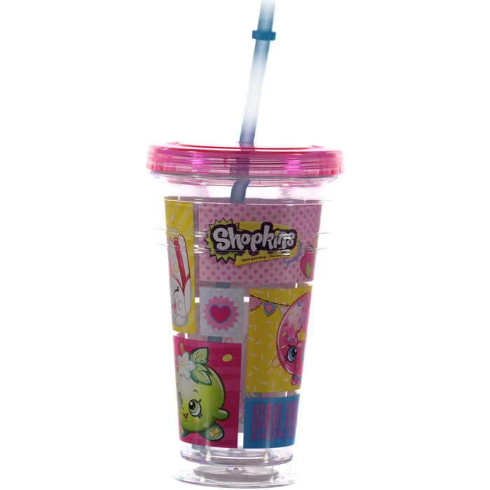 Shopkins Drink Cup With Straw