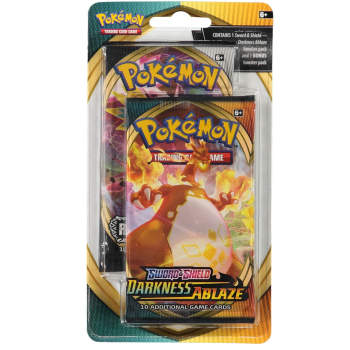 Pokemon TCG Sword & Shield Darkness Ablaze 2-Pack Booster Blister Pack