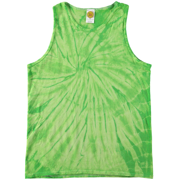 Colortone Spiral Tie Dye Tank Top Lime