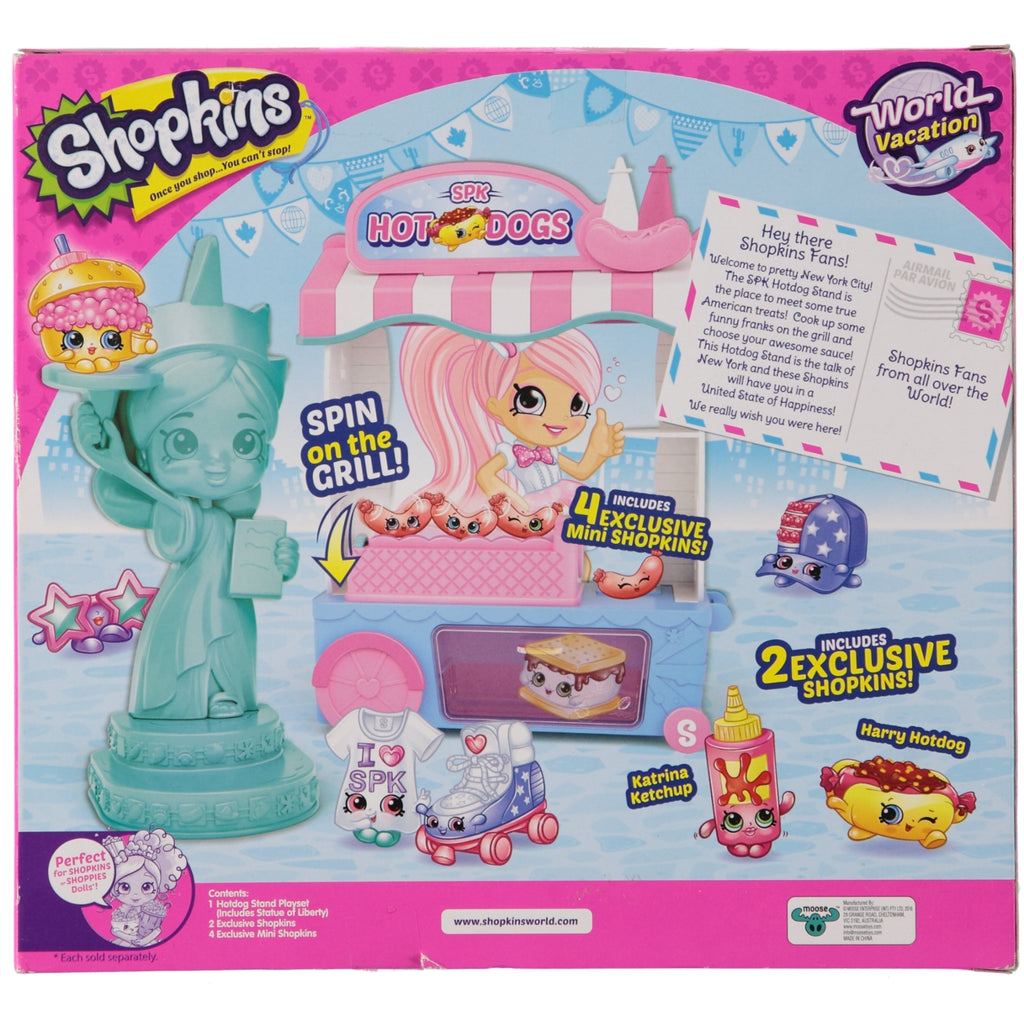 Shopkins World Vacation Boarding to USA SPK Hotdog Stand