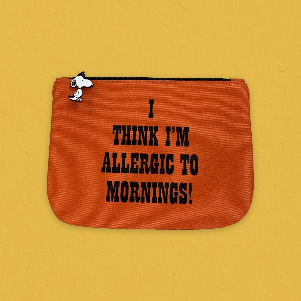 Magpie x Peanuts Zip Pouch Allergic To Mornings