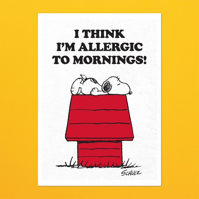 Magpie x Peanuts Allergic to Mornings Tea Towel