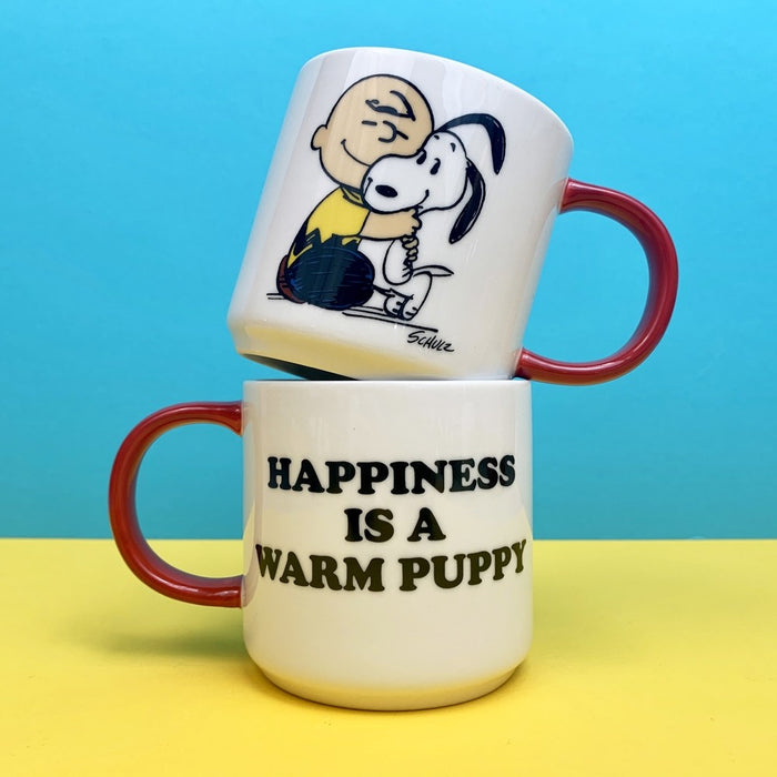 Magpie x Peanuts Happiness Is A Warm Puppy Mug