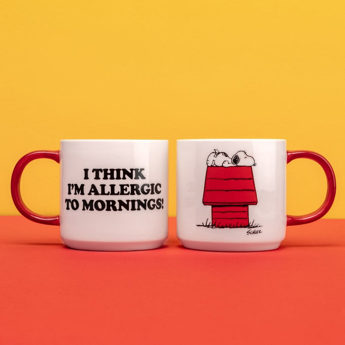 Magpie x Peanuts Allergic to Mornings Mug