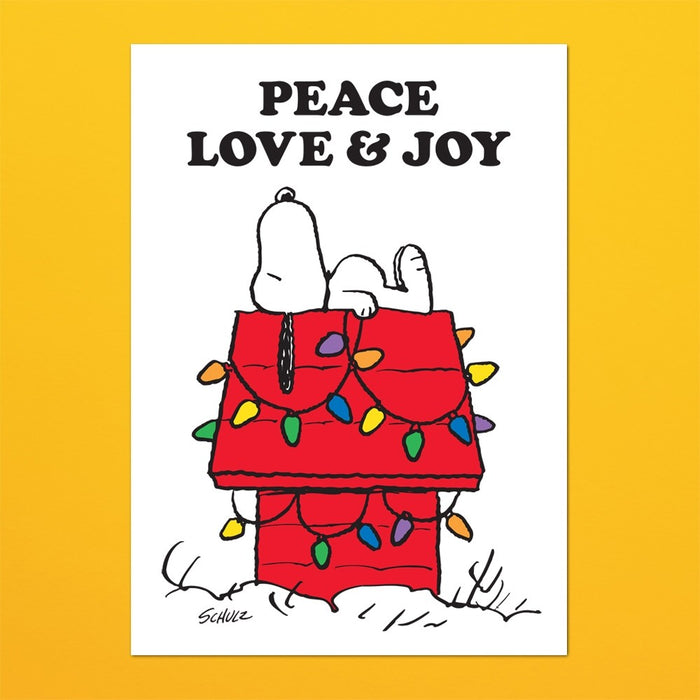 Magpie x Peanuts Tea Towel Peace, Love & Joy