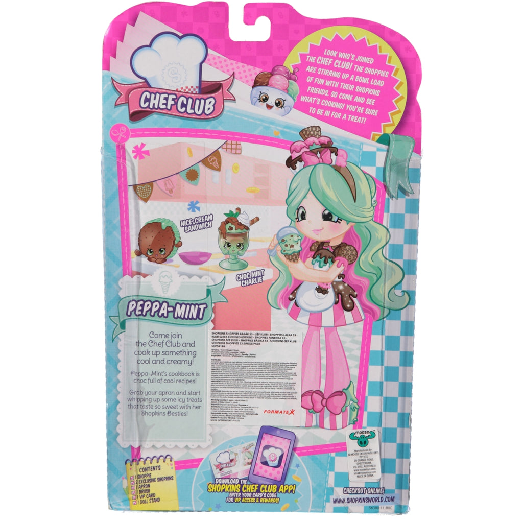 Shopkins Shoppies Chef Club Doll Peppa-Mint