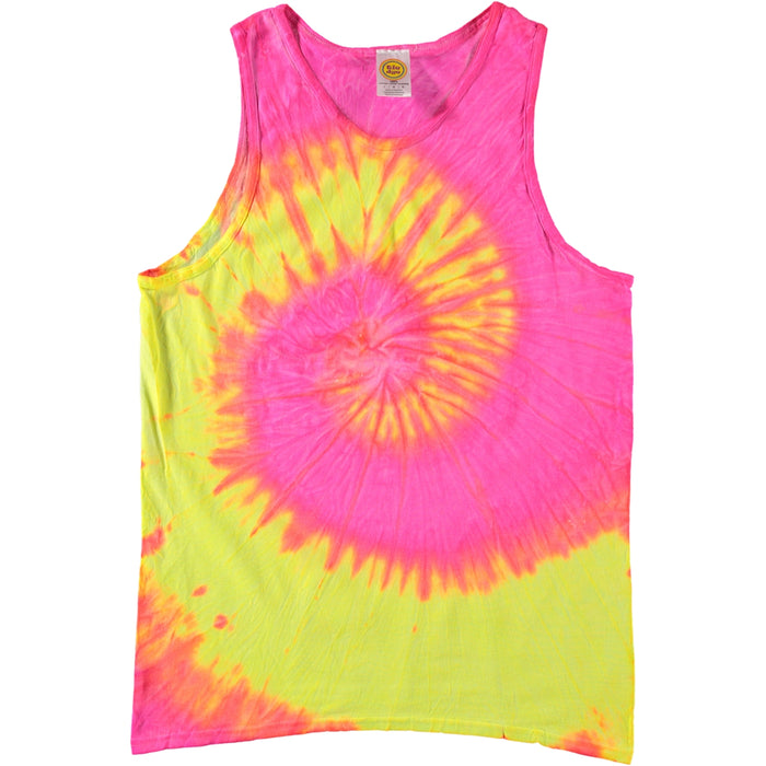 Colortone Swirl Tie Dye Tank Top Multi Fluorescent