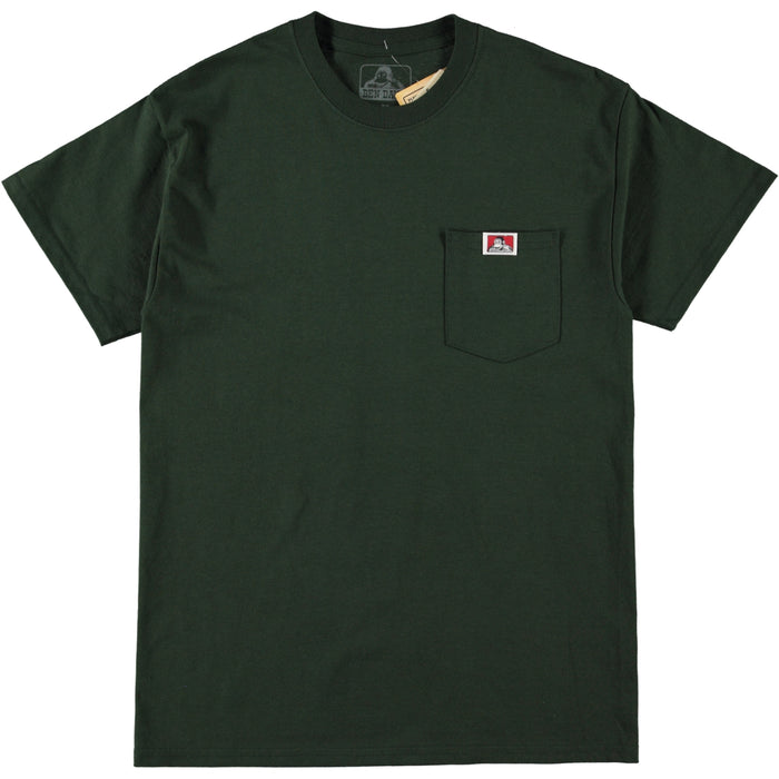 Ben Davis Patch Logo Pocket Tee Hunter Green