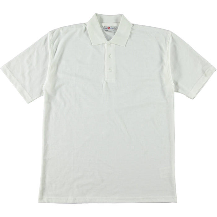 RTX RX100 Classic Poly Cotton Polo Shirt White