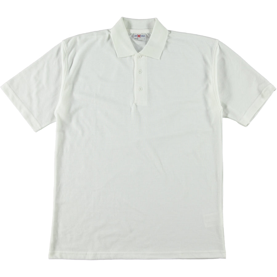 RTX Work Wear & Sportswear Classic Tough Polo Shirt White