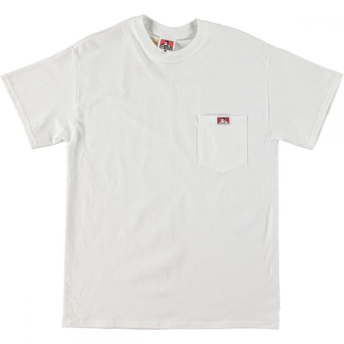 Ben Davis Patch Logo Pocket Tee White