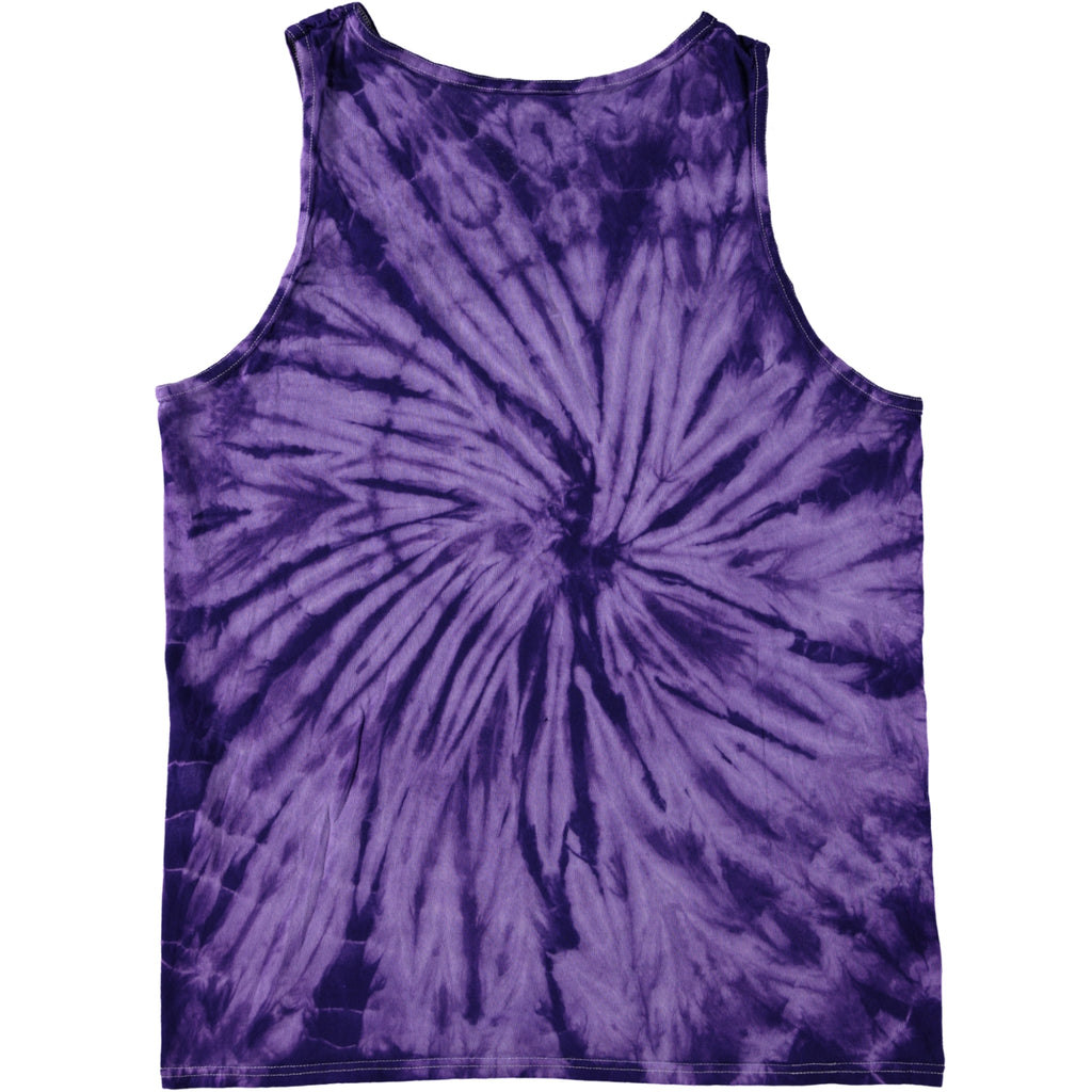 Colortone Spiral Tie Dye Tank Top Purple