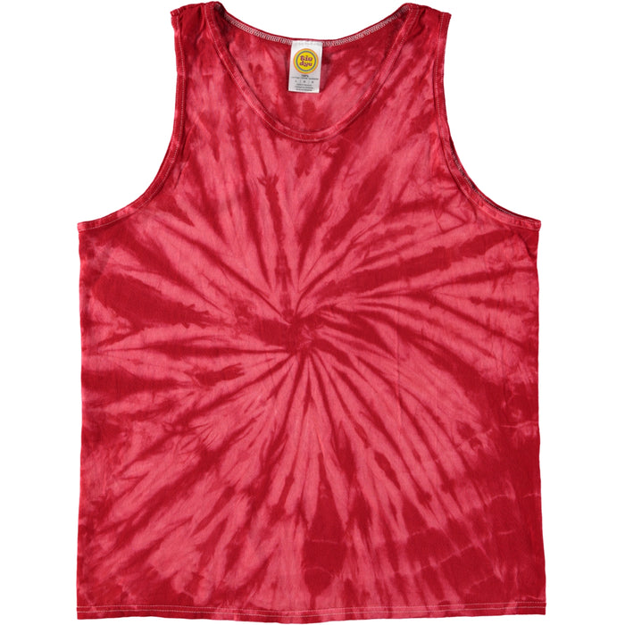 Colortone Spiral Tie Dye Tank Top Red