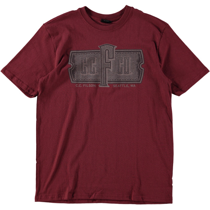 Filson S/S Outfitter Tee Burnt Red 2