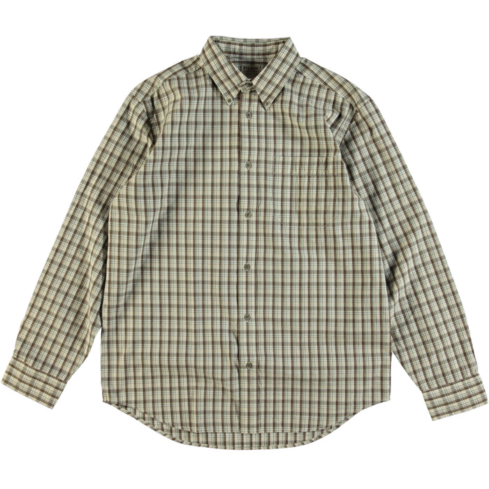 Filson Showroom Sample - Size M - Filson Long Sleeve Sutter Sports Shirt Cream Olive Red Plaid