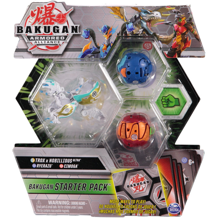 Bakugan Armoured Alliance Bakugan Starter Pack Trox x Nobillious Ultra Ryerazu Cimoga