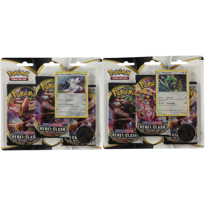 Pokemon TCG Sword & Shield Rebel Clash Triple Booster Blister Pack