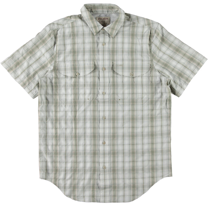 Filson Twin Lakes Short Sleeve Shirt Cream Khaki Green