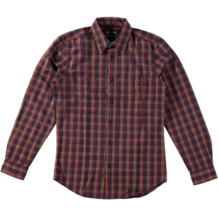 Filson Wildwood Shirt Brown Red Blue