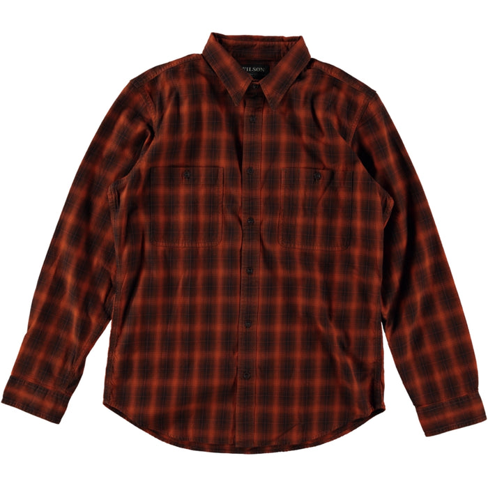Filson Wildwood Shirt Orange Brown