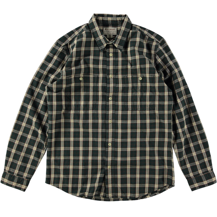 Filson Wildwood Shirt Green Rust Cream
