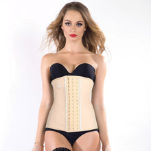 JYY 100% Latex 9 bones Waist Trainer long - Black