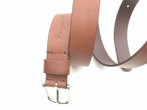 Craigie&Co Genuine Buffalo Leather Belt - Brown, 30mm wide Single Pin Buckle Extra Large