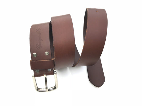 Craigie&Co Genuine Buffalo Leather Belt - Brown, 40mm Wide Single Pin Buckle, Exchangeable Buckle