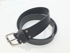 Craigie&Co Genuine Buffalo Leather Belt - Black, 40mm Wide Single Pin Buckle, Exchangeable Buckle