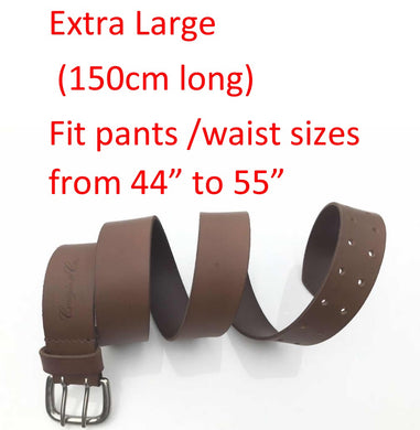 Craigie&Co Genuine Buffalo Leather Belt - Brown, 40mm Wide Double Silver Pin Buckle