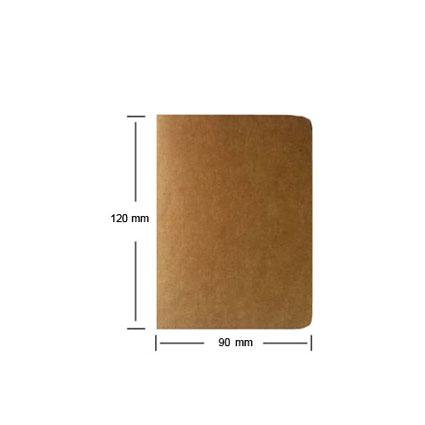 1Pcs Cowhide Paper Notebook Blank Notepad Book Vintage Soft Copybook Daily Memos Kraft Cover Journal Notebook