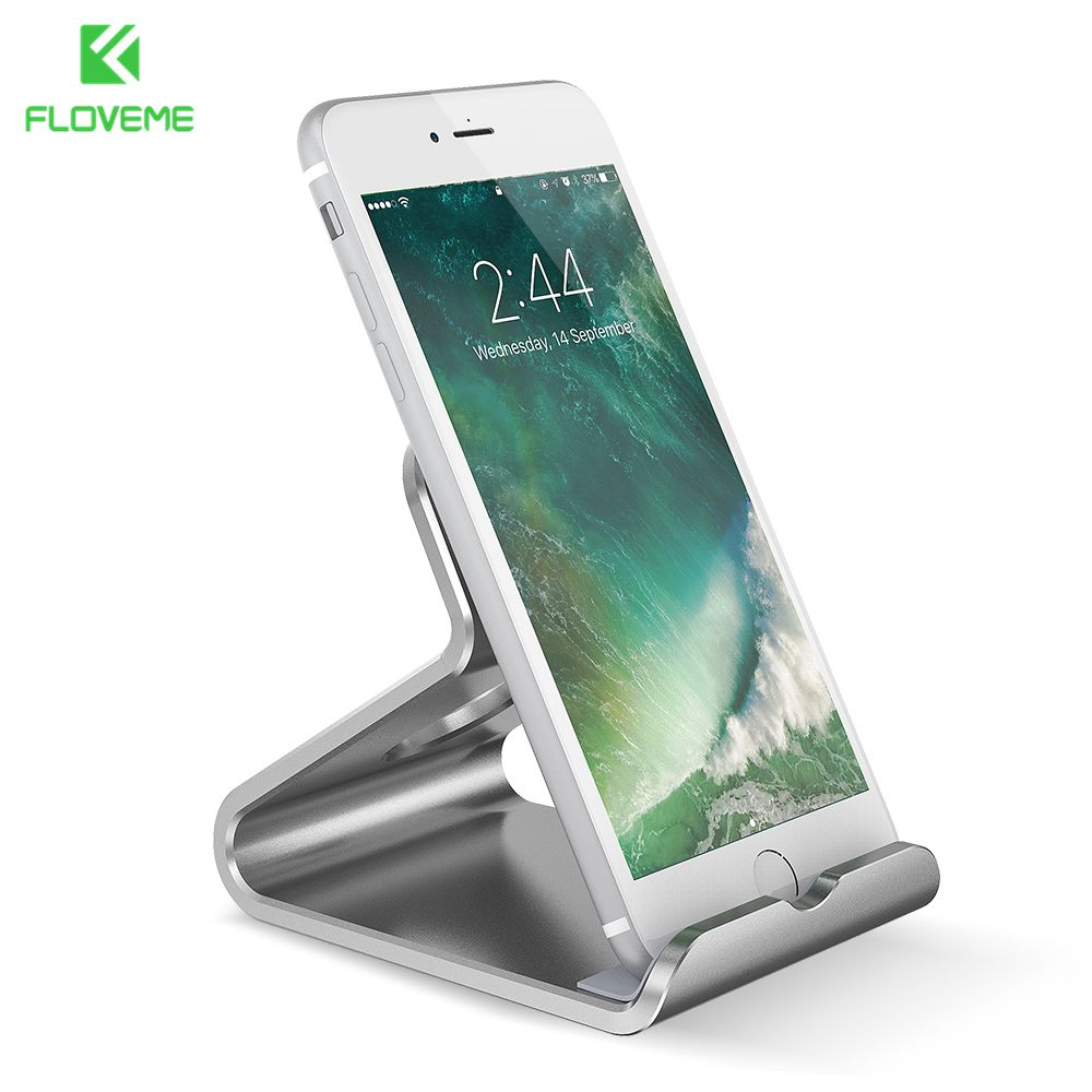 FLOVEME Universal Phone Stand Holder Aluminum Metal Desk Bracket Holder For iPhone 6 6S 7 7 Plus For iPad Air 2 mini 2 3 4 Stand