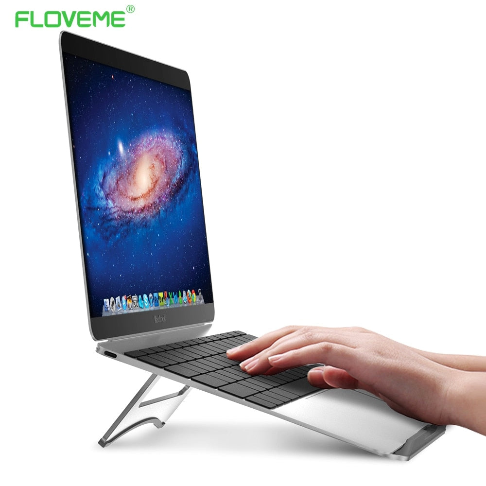 FLOVEME Laptop Stand Portable Tablet Holder Aluminium Laptop Stands For MacBook Air Mac Book Pro 120 Degree Tablet Mount Soporte