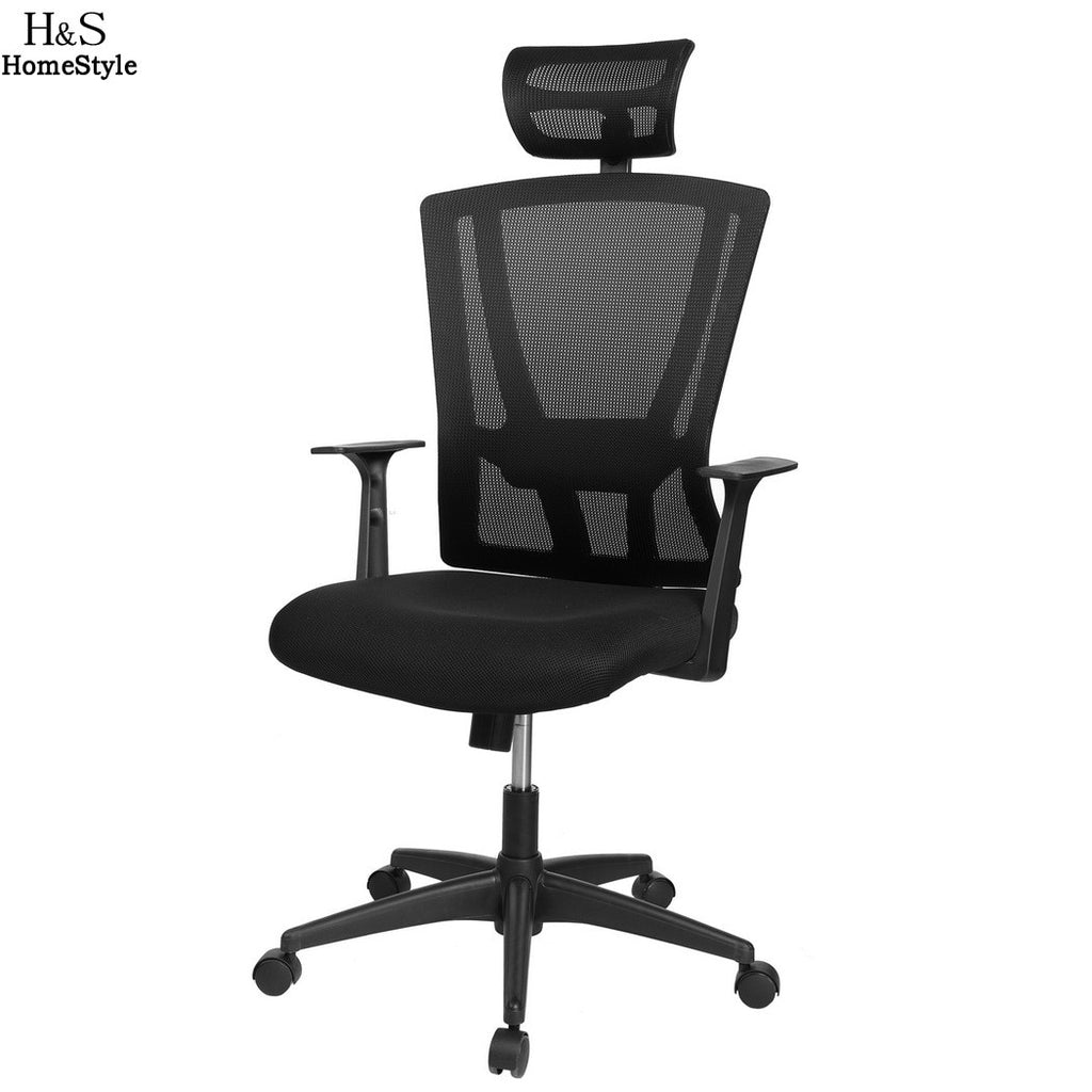Homdox High Back Mesh Ergonomic Computer Office Swivel Chair Mesh Padded Seat Adjustable Executive Task N40