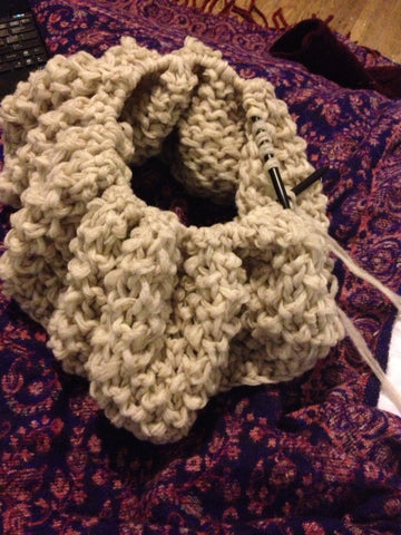 Chunky Cowl in Imperial Stock Ranch Pencil Roving
