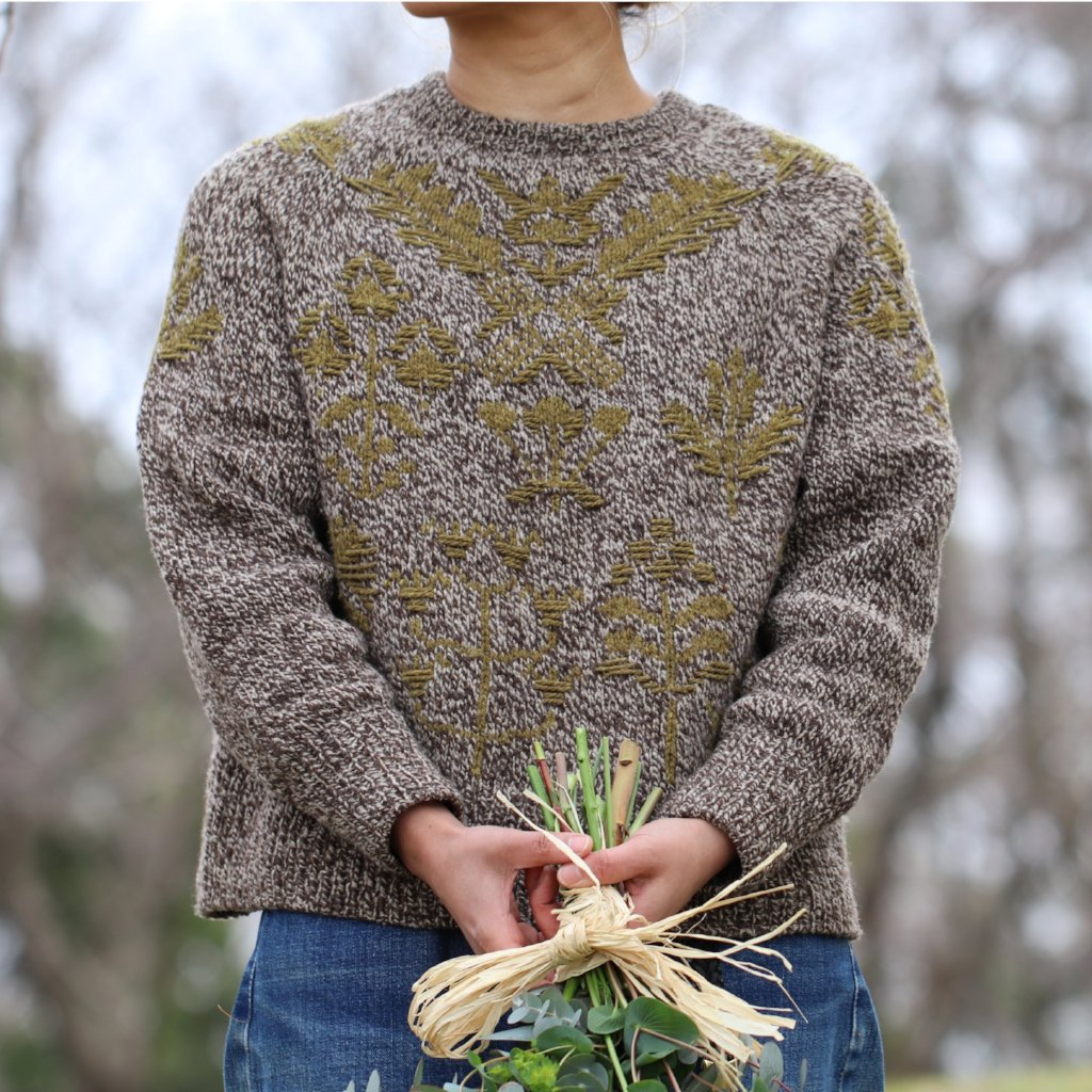 AVFKW x Junko Okamoto - Bouquet Sweater Kit - Undyed colors available