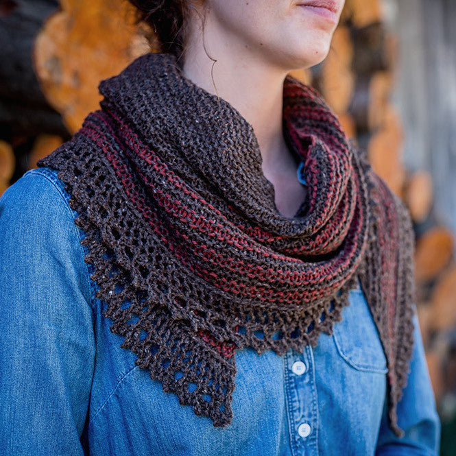 AVFKW x Annie Rowden // Viriditas Shawl Kit - Undyed colors available!